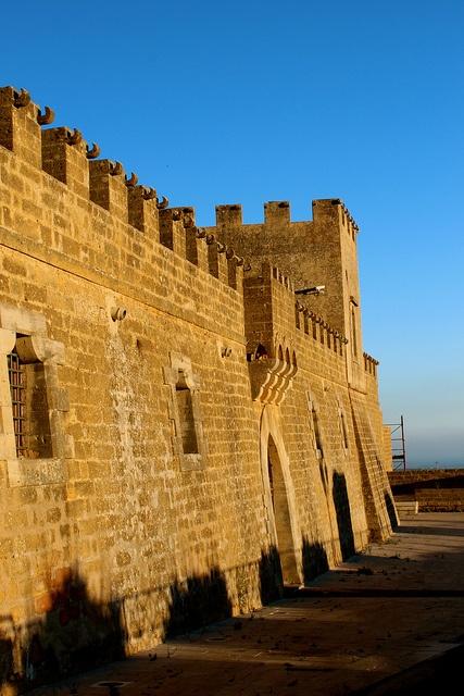 Castello Grifeo di Partanna (Sicilia, Italia) (Sicily, Italy).