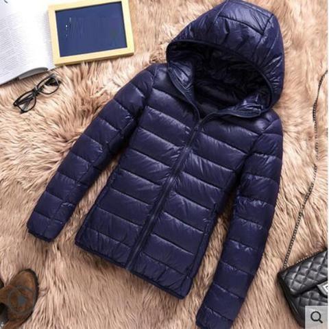 fddfc3e78bf 2018 New Brand 90% White Duck Down Jacket Women Autumn Winter Warm Coat  Lady Ultralight Duck Down Jacket Female Windproof Parka