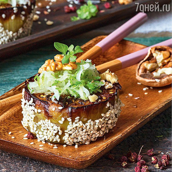 Рецепты от Юлии Высоцкой: баклажаны сяпонским соусом, котлетки из индейки, вафли стыквой и кардамоном