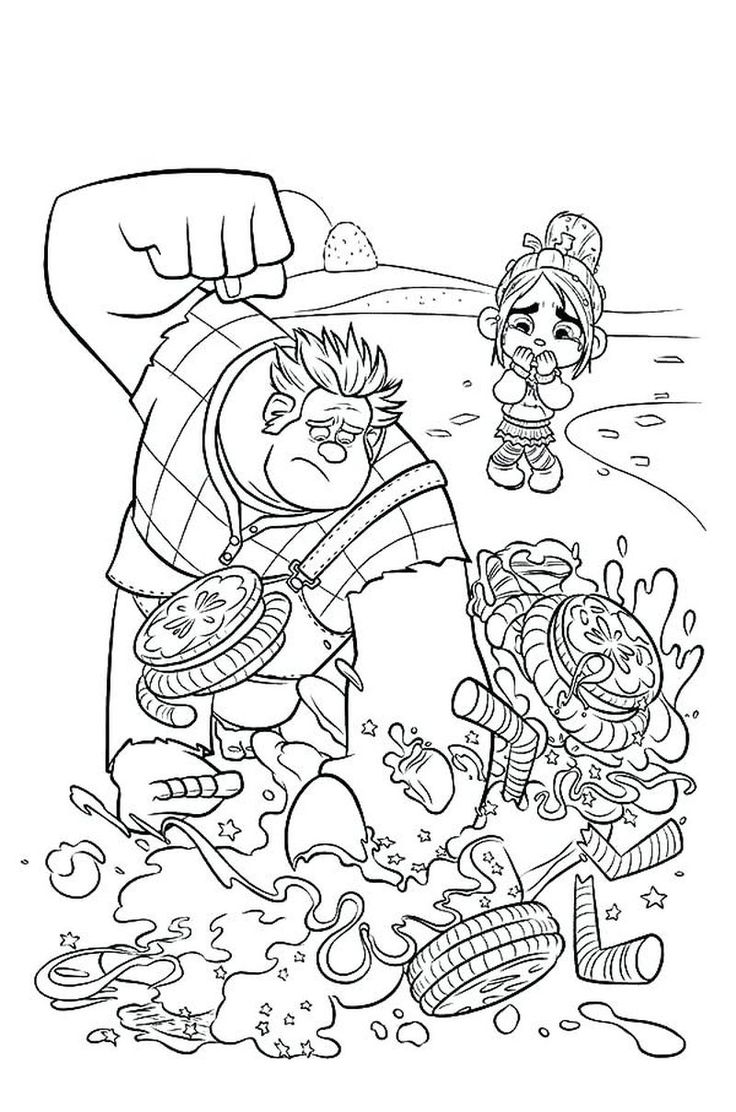 Printable Wreck It Ralph Coloring Pages en 2020 Páginas