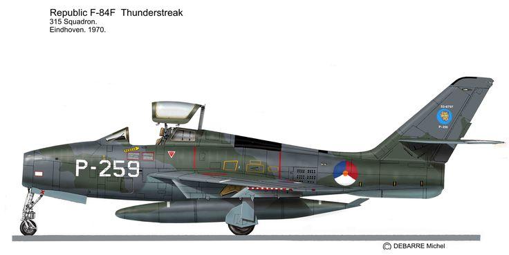 Le F-84F Thunderstreak fut le chasseur-bombardier standard de l'OTAN pendant des dizaines d'années. Il porta des décorations et camouflages splendides.