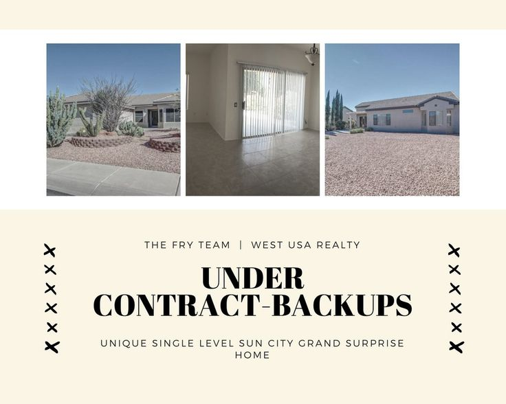 """We went under contract on this """"Unique Single Level Sun City Grand Surprise Home""""  