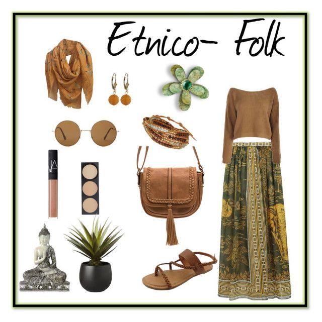 Etnico- Folk by carlablasco on Polyvore featuring moda, Valentino, Chan Luu, Alexander McQueen, Forever 21, NARS Cosmetics and CB2