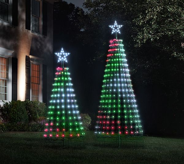 Santa S Best 360 Degree Led Light Show Pixel Tree W Remote Timer Qvc Com Light Show Outdoor Christmas Decorations Led Lights