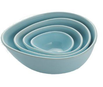 Nigella Lawson S Living Kitchen Mixing Bowls Blue Set Of