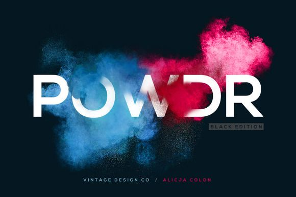 POWDR - Black Edition by Vintage Design Co. on Creative Market