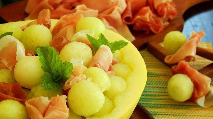 Melón con Jamón - #LaNOReceta - CUKit! Fresco, Fruit Salad, Coco, Youtube, Appetizers, Salads, Fiestas, Fresh, Fruit Salads