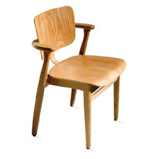 Birch £540.00 Ilmari Tapiovaara stackable chair with seat and back in formed birch plywood