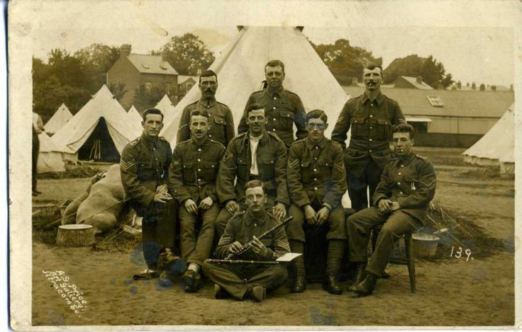 Territorial Musicians probably at Summer Camp pre-1914