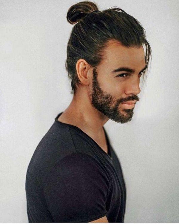 Best Hairstyles Men Thin Hair Man Ponytail Mens Ponytail Hairstyles Long Hair Styles Men