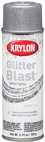 Glitter Blast Aerosol Paint 5.75 Oz-Silver Flash