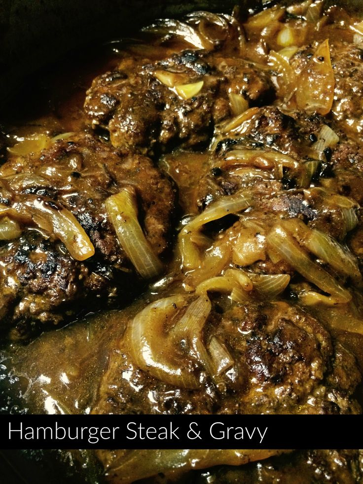 Hamburger Steak and Gravy  | Aunt Bee's Recipes - Brandi shared this awesome recipe on FB and I knew I had to try it soon - we LOVED this!!  I did not have the kitchen bouquet, so I want to find that and make this again.  I served this with both rice and mashed potatoes - we felt like it went best with the rice ;)  Delicious!!! - Jenn <3
