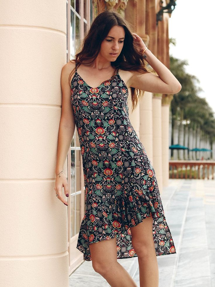 TAMGA Jasmine Slip-on Dress Toba Print