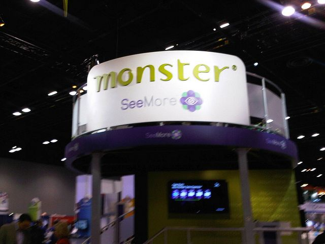 Monster booth at #HRTechconf by monsterww, via Flickr; 10 Words - monster resume