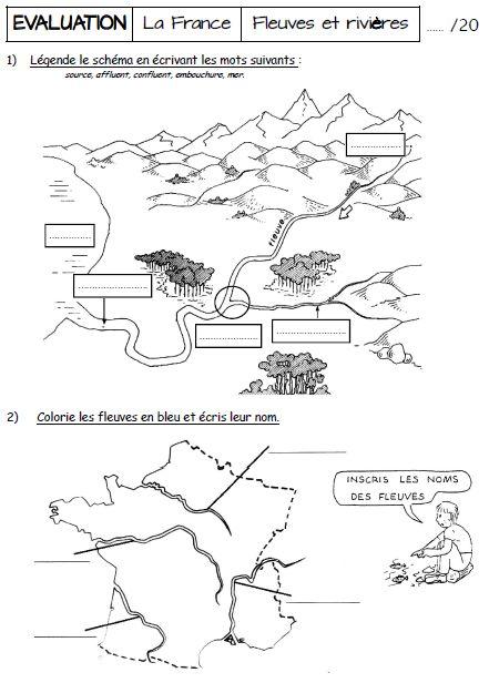 la france - les fleuves et rivieres