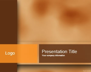 Brown Color PowerPoint Template is a free brown PPT template slide design for professional PowerPoint presentations requiring a modern slide template with brown and orange colors