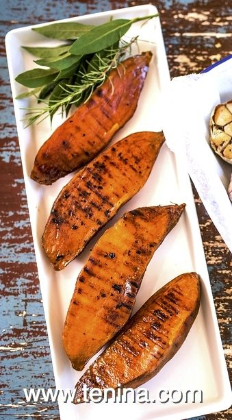 Grilled Sweet Potatoes - Cooking with Tenina