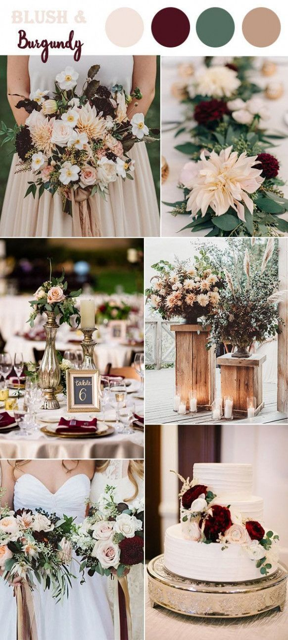Fall Wedding Maroon Color Schemes