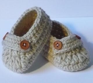 Let's create: Crochet Baby Boy Booties