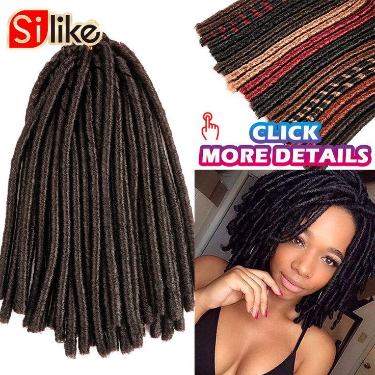 Hair Extension 14'' 30 Roots Soft Crochet Dreadlocks Braids  Dreadlock extensions Weaving Softex faux locs Crochet Braids hair Soft Dread Hair ** Click the image to view the details