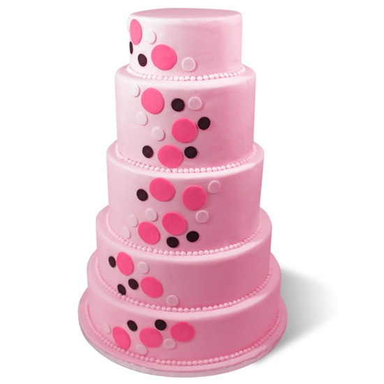 Pink Tower.  5 Tiers of heaven.