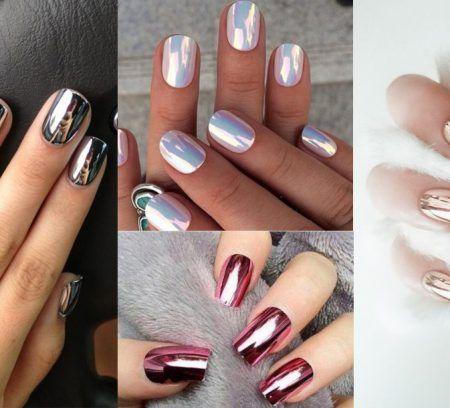 Après la tendance nude, l'effet mat ou la water marble, faites place à l'effet chromé sur vos ongles grâce à la poudre miroir !