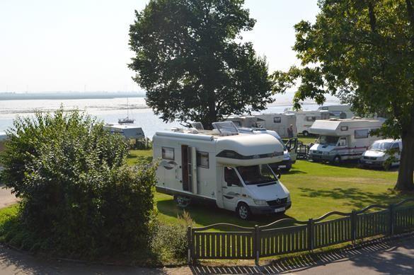 Nordsee-Campingplatz in Tönning bei St. Peter, Eiderstedt