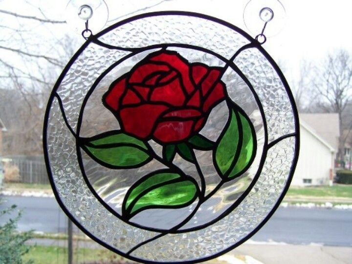 171 Best Stained Glass Flowers Images On Pinterest