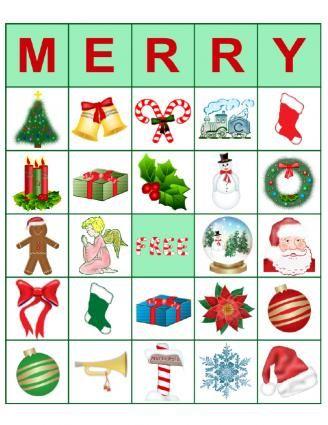 Merry Christmas Bingo Set!