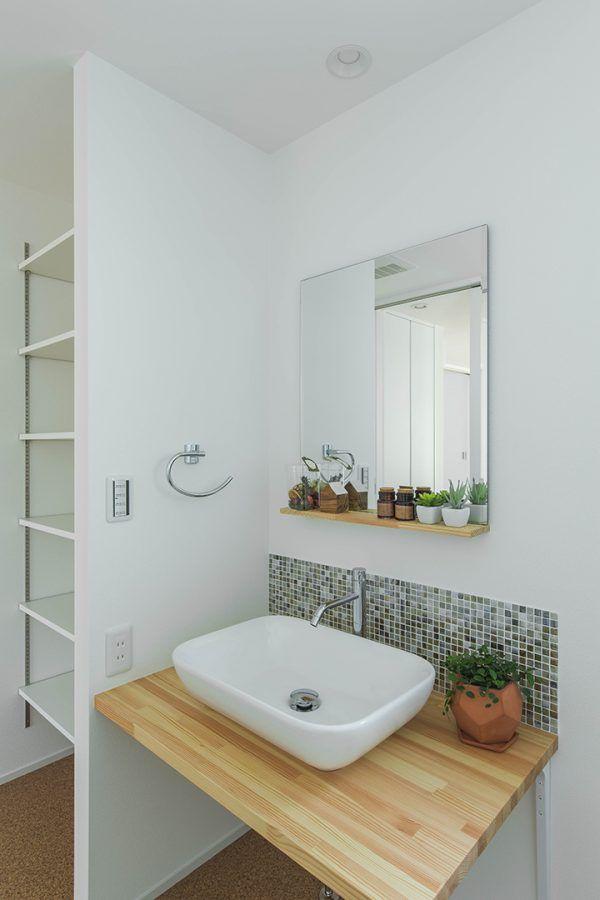洗面所 ランドリー 滋賀で設計士とつくる注文住宅 ルポハウス 造作 洗面台 洗面所 洗面台