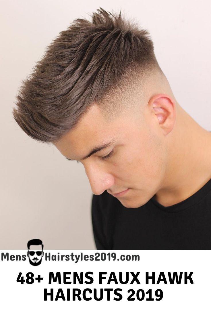 Mens hairstyles top faux hawk fade haircuts variations