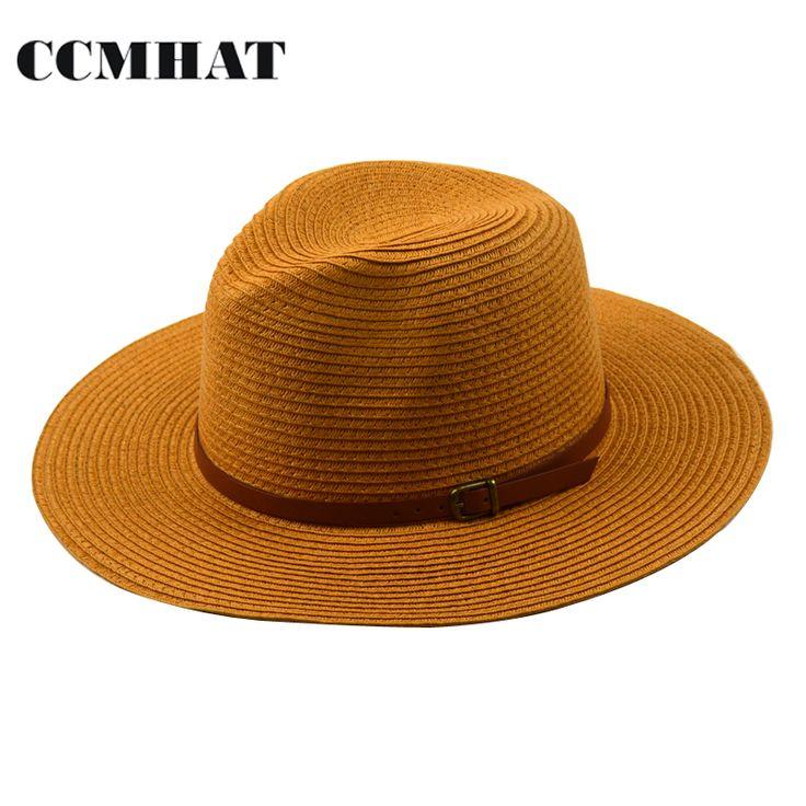 >> Click to Buy << CCMHAT 2017 Fashion Men Sun Hats Leather Belt Decoration Summer Style Women Straw Hats Panama Chapeau Paille Caps Accessories #Affiliate