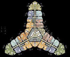 Armani Hotel Floor Plan, Burj Khalifa, Dubai