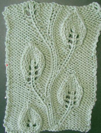 Apricot Leaf Knitting Pattern