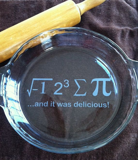 Etched Glass Pie Plate I Ate Sum Pie and by CrystalCreekBoutique
