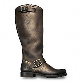 We could not pass up pinning this beautiful boot.  Coach x Frye Women's Metallic Veronica Boot.