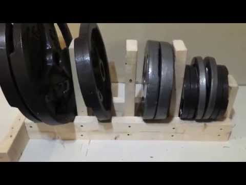 (63) DIY Weight Rack EASY and CHEAP - YouTube