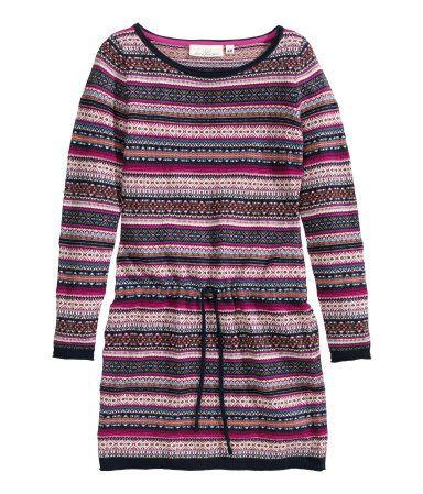 Jacquardgebreide jurk 29,99