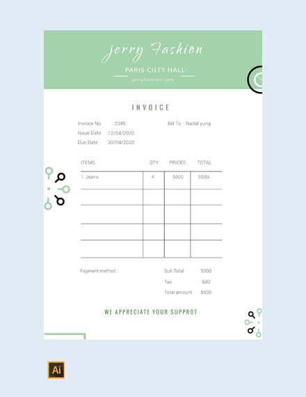 Free Fashion Store Invoice Misc Pinterest Social Security And