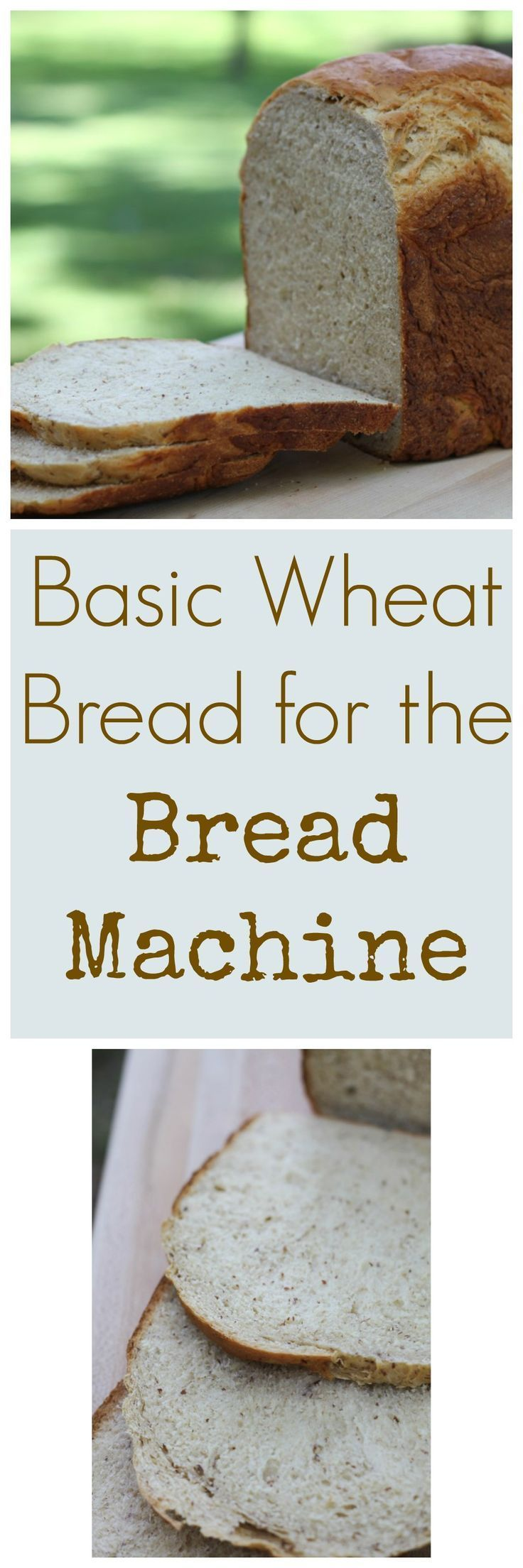This classic wheat bread has amazing texture, great flavor, and is super easy, thanks to the bread machine! {Brittany's Pantry}