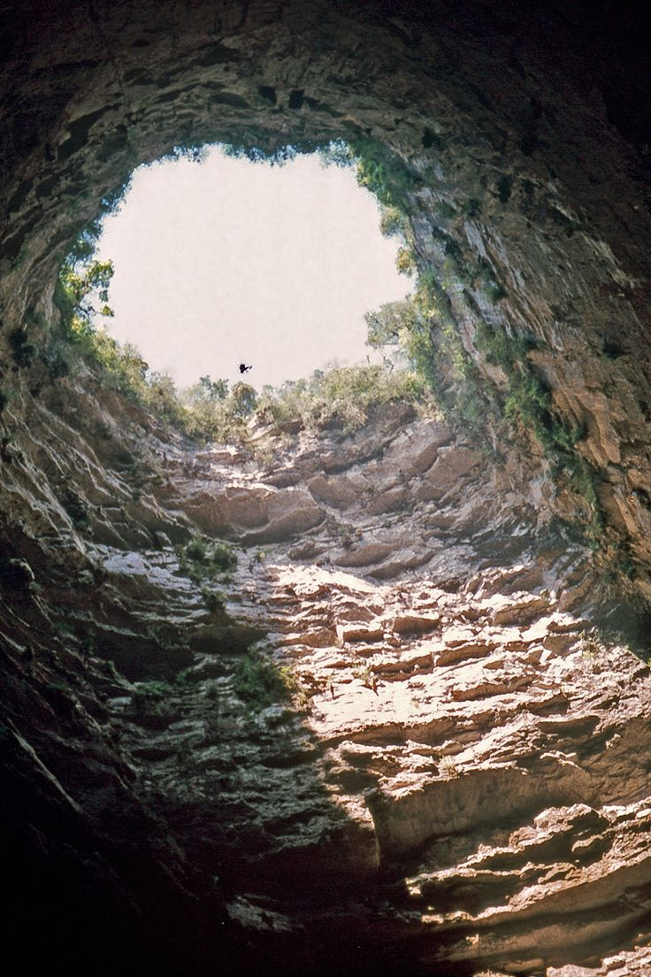 Sótano de las Golondrinas in Mexico - among the most impressive ones in the world. 372 m deep, 11th deepest in the world!!!