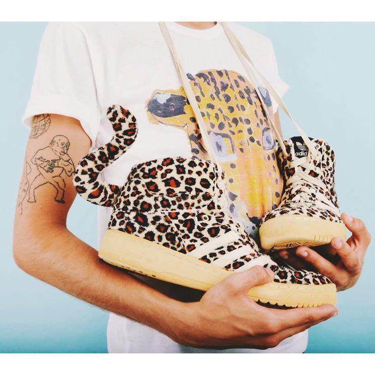 Welcome to the jungle!   Fantastic Jeremy Scott vintage Adidas sneakers. Cheetah pattern fauxfur shoes.  #szputnyikshop #budapest