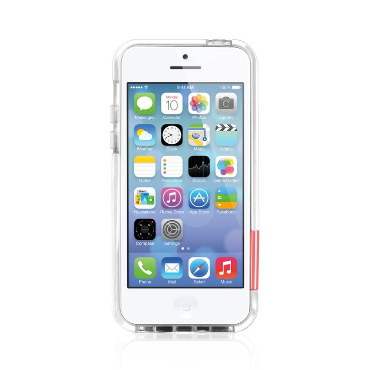 Macally PCRIMP6-C, Impact-Resistant, Protective Case/Frame with 5 Echangeable Color Clips for iPhone 5C - Clear. Impact-resistant polycarbonate frame for an enhanced protection against accidental bumps. Clear design to display your iPhone in its original