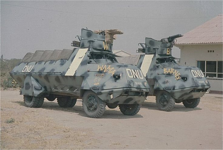 Svenska KP-bilar, inte direkt lämpliga på Kongos vägar, men gav ett bra skydd för eventuell beskjutning.