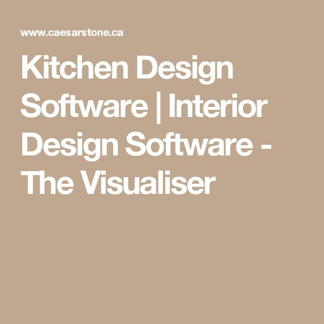 Kitchen Design Software Interior Design Software The Visualiser