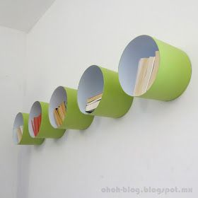 Ohoh Blog: Shelves made with paint bucket