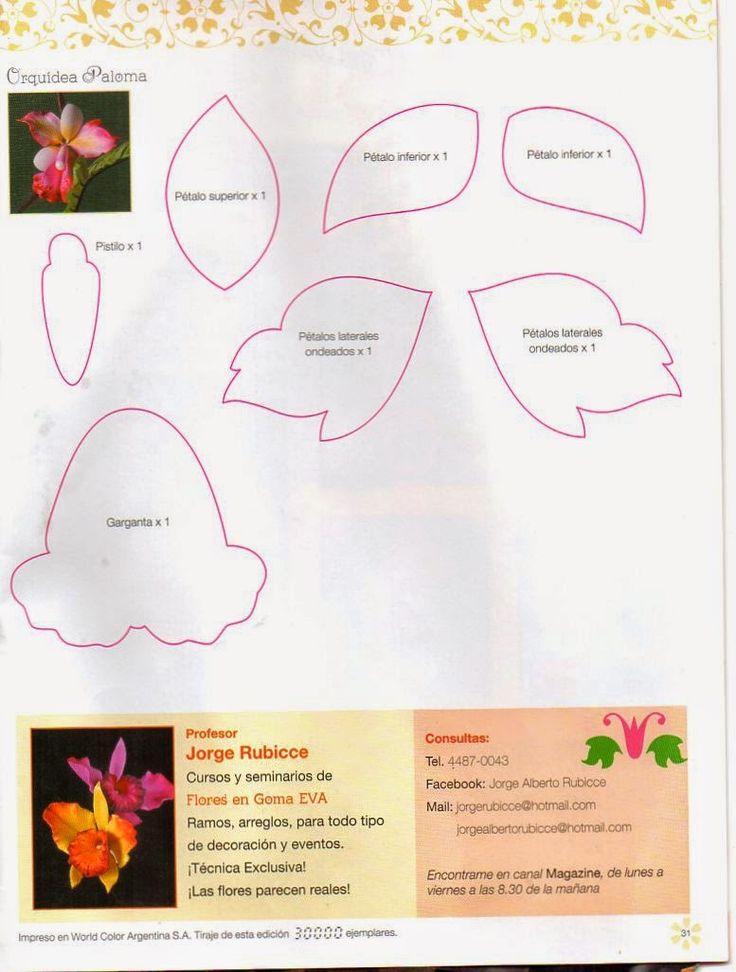 Como hacer rosas en foamy - Revistas de manualidades Gratis