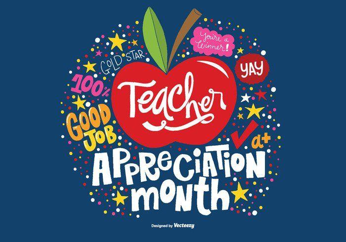 May Teacher Appreciation Month Vector