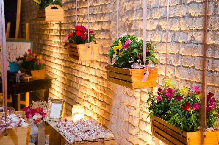decoração de casamento com caixotes de feira - Pesquisa Google