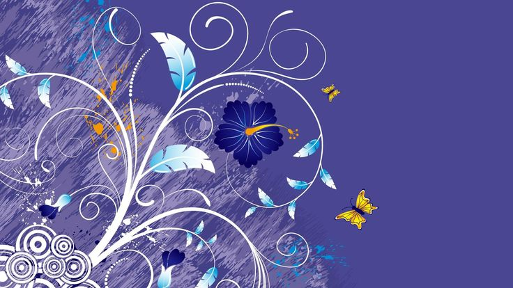 Beautiful Butterfly Wallpaper Design Stock Vector